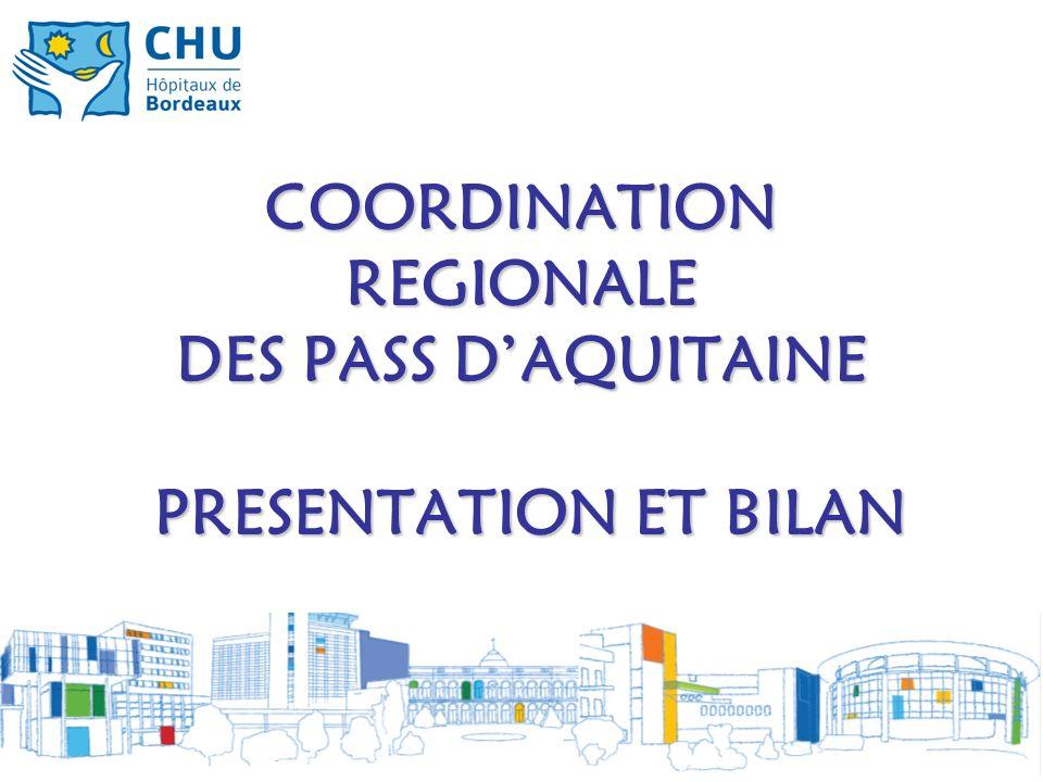 COORDINATION REGIONALE DES PASS D'AQUITAINE PRESENTATION ET BILAN