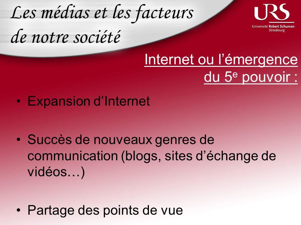 Internet ou l'émergence du 5e pouvoir :