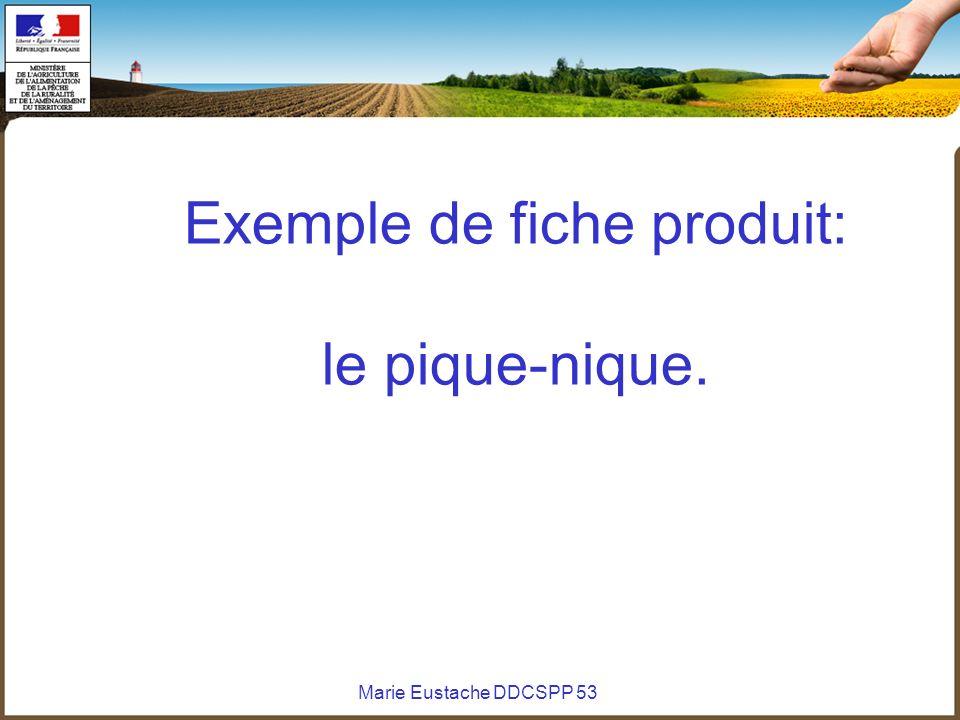 Exemple de fiche produit: le pique-nique.