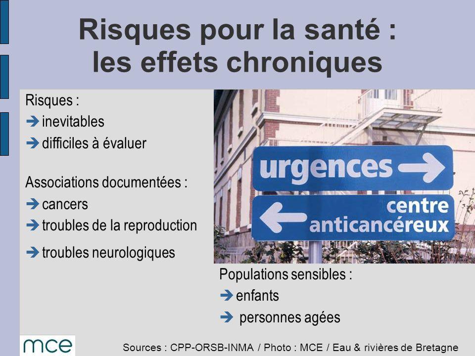 Risques pour la santé : les effets chroniques