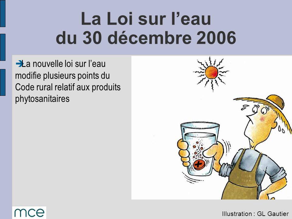 La Loi sur l'eau du 30 décembre 2006