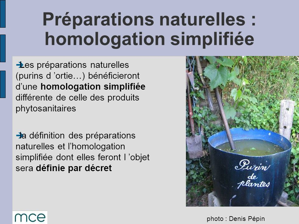 Préparations naturelles : homologation simplifiée