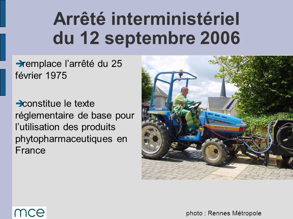 Arrêté interministériel du 12 septembre 2006