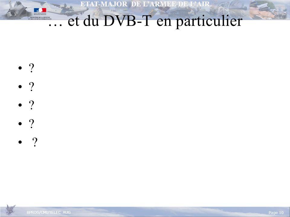 … et du DVB-T en particulier