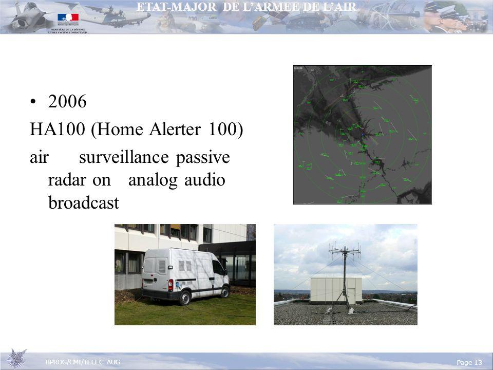 2006 HA100 (Home Alerter 100) air surveillance passive radar on analog audio broadcast