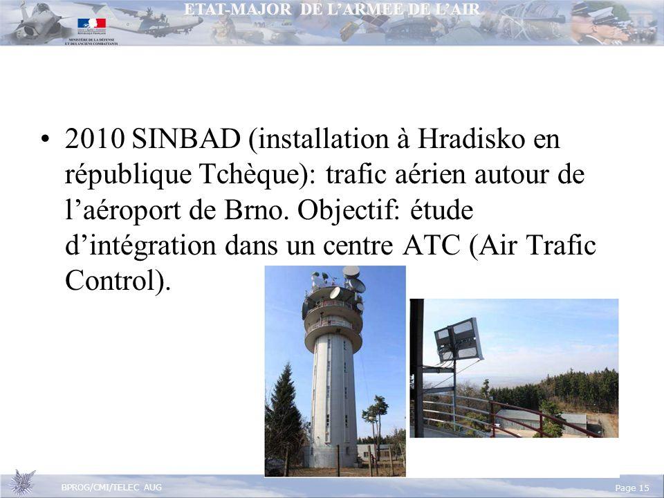 2010 SINBAD (installation à Hradisko en république Tchèque): trafic aérien autour de l'aéroport de Brno.