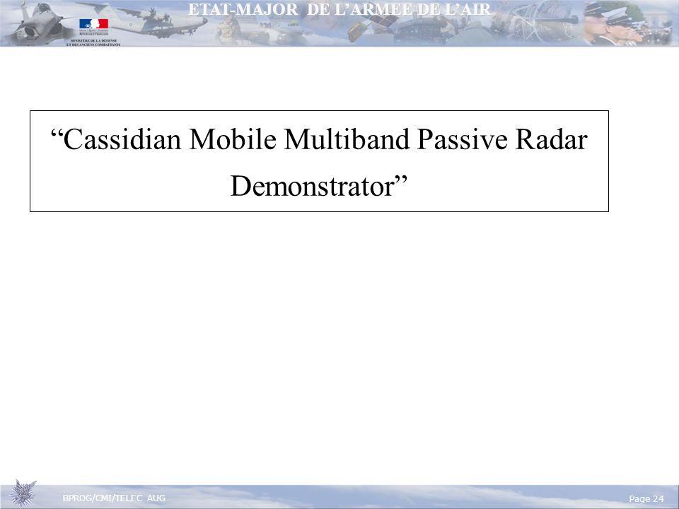 Cassidian Mobile Multiband Passive Radar Demonstrator