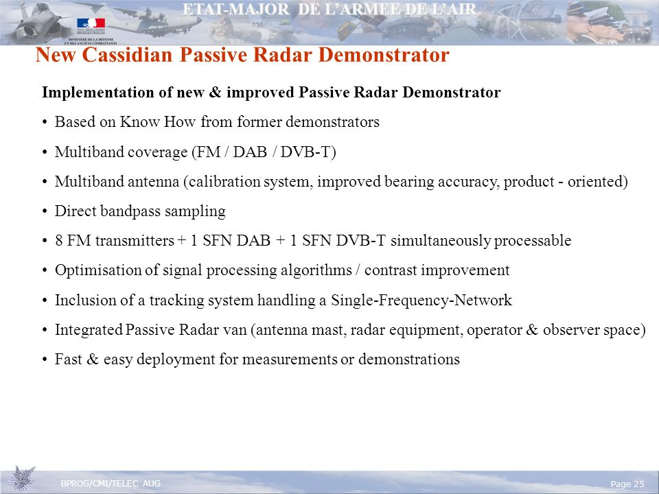 Implementation of new & improved Passive Radar Demonstrator