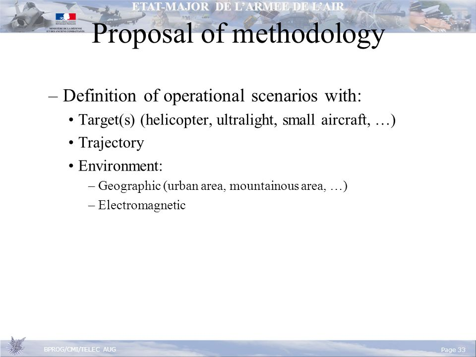 Proposal of methodology