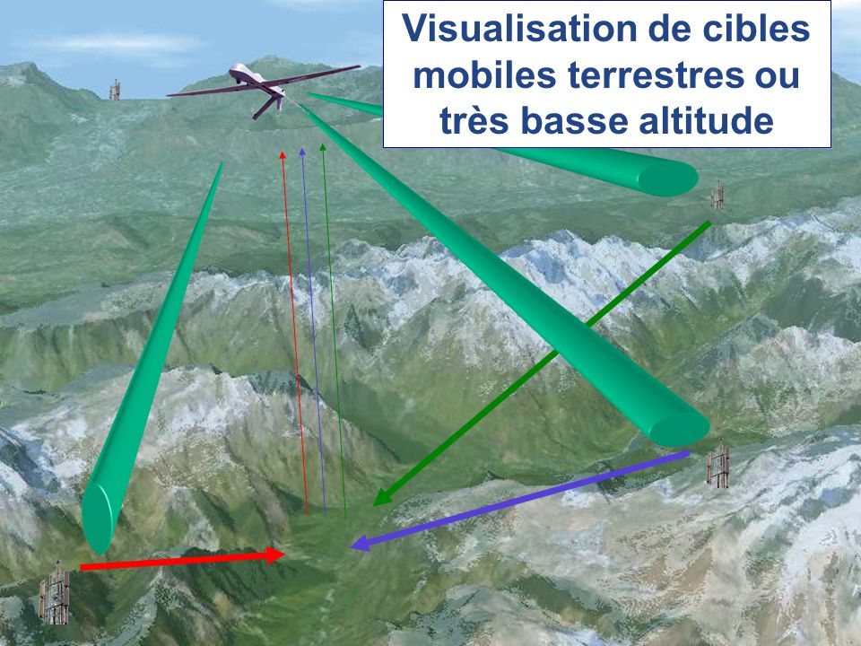 Visualisation de cibles mobiles terrestres ou très basse altitude