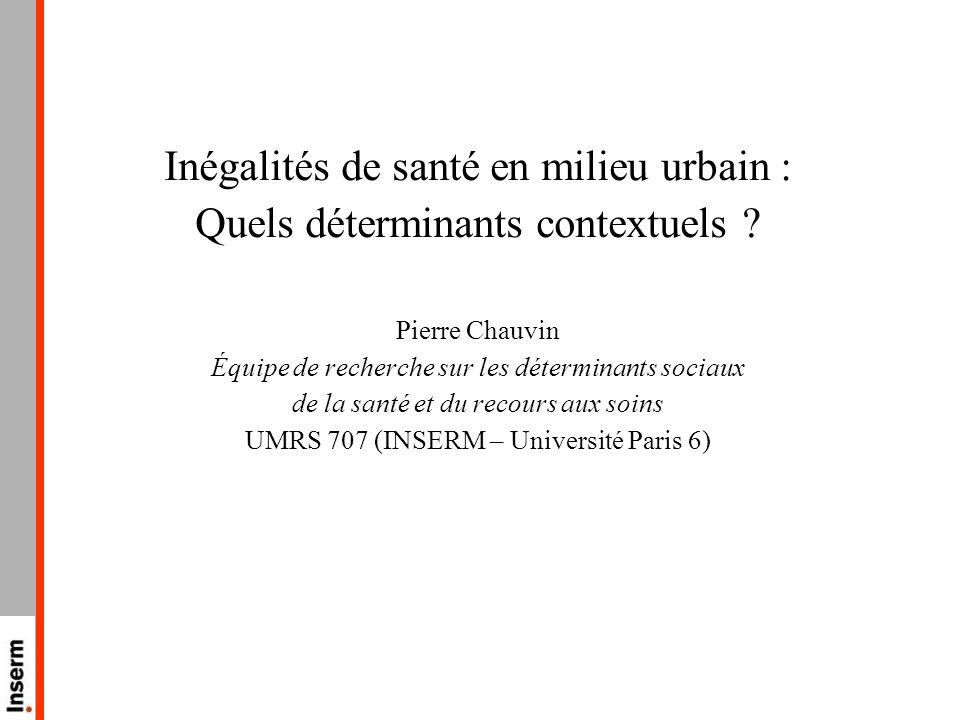 Inégalités de santé en milieu urbain :