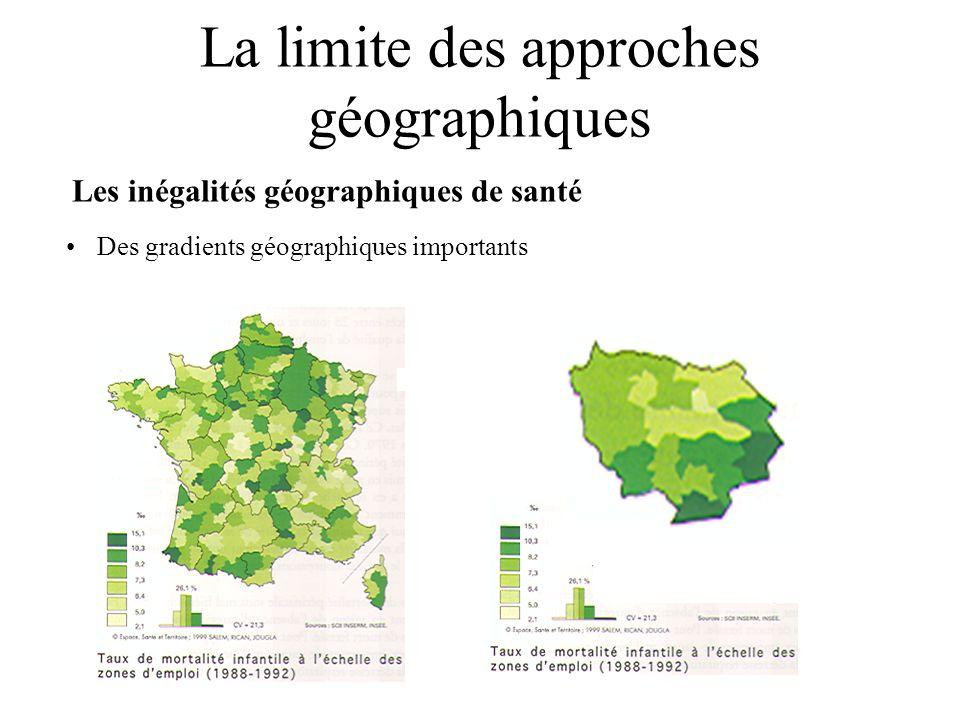 La limite des approches géographiques