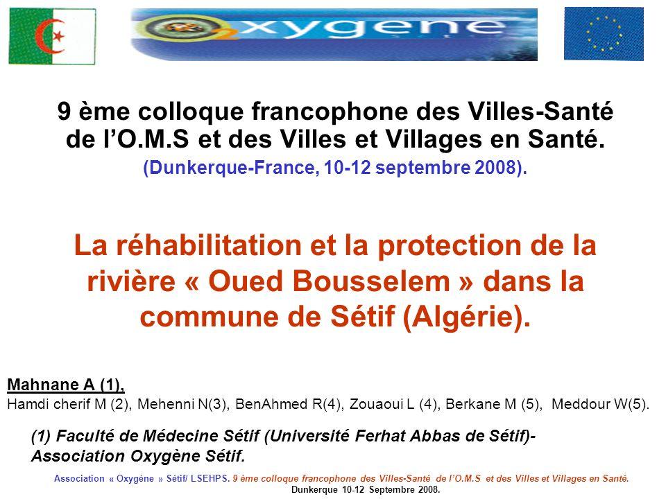 9 ème colloque francophone des Villes-Santé de l'O. M