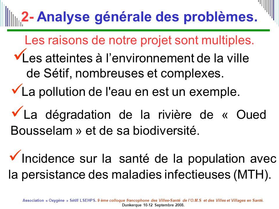 2- Analyse générale des problèmes.