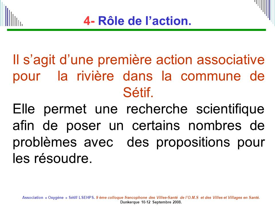 4- Rôle de l'action.