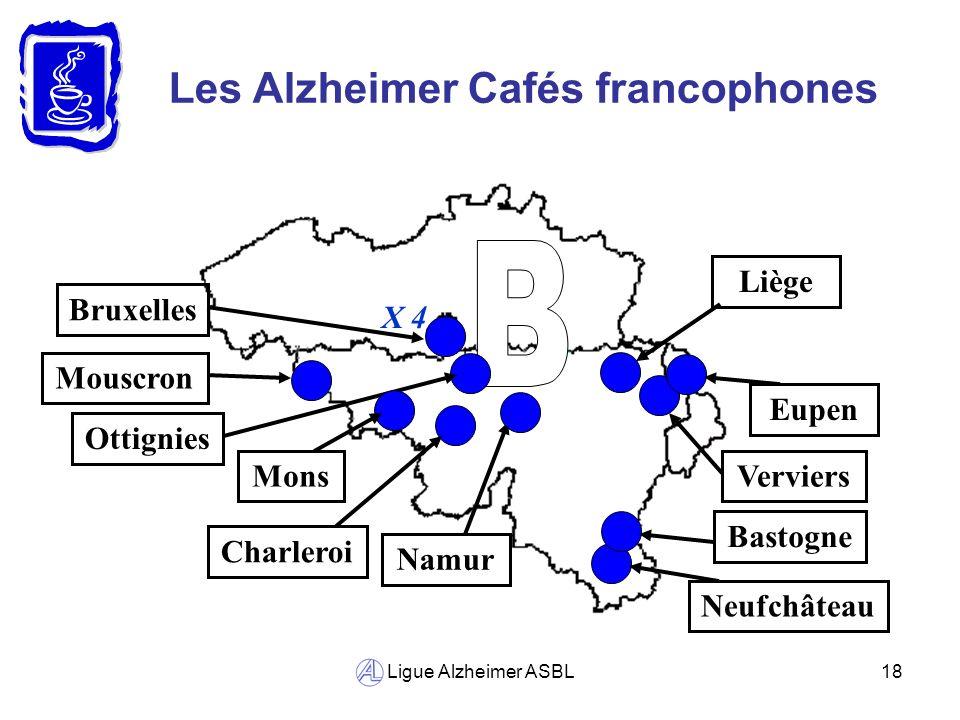 B Les Alzheimer Cafés francophones Liège Bruxelles X 4 Mouscron Eupen