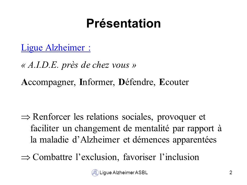 Présentation Ligue Alzheimer : « A.I.D.E. près de chez vous »
