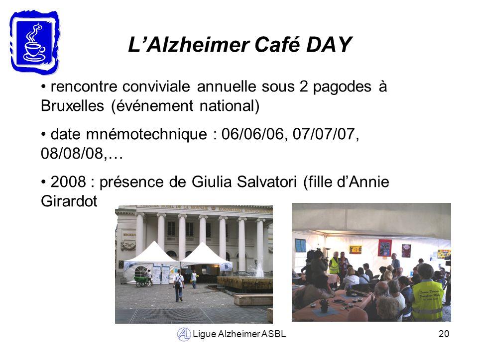 L'Alzheimer Café DAY rencontre conviviale annuelle sous 2 pagodes à Bruxelles (événement national)