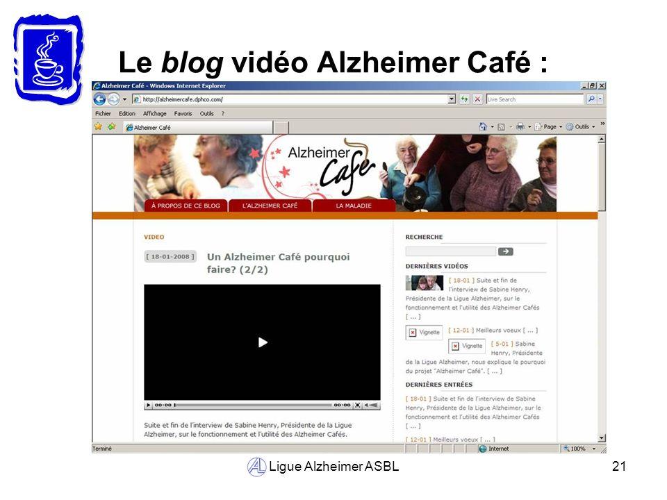 Le blog vidéo Alzheimer Café :