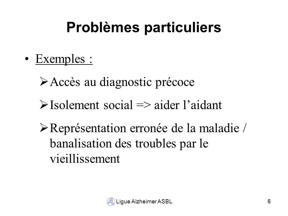 Problèmes particuliers