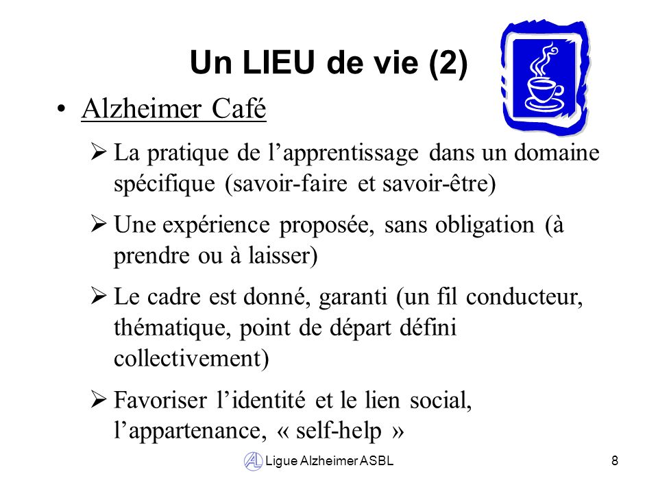 Un LIEU de vie (2) Alzheimer Café