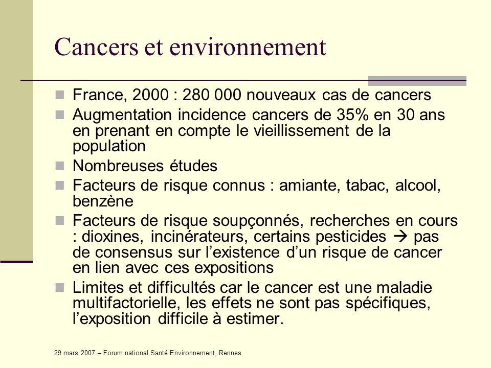 Cancers et environnement