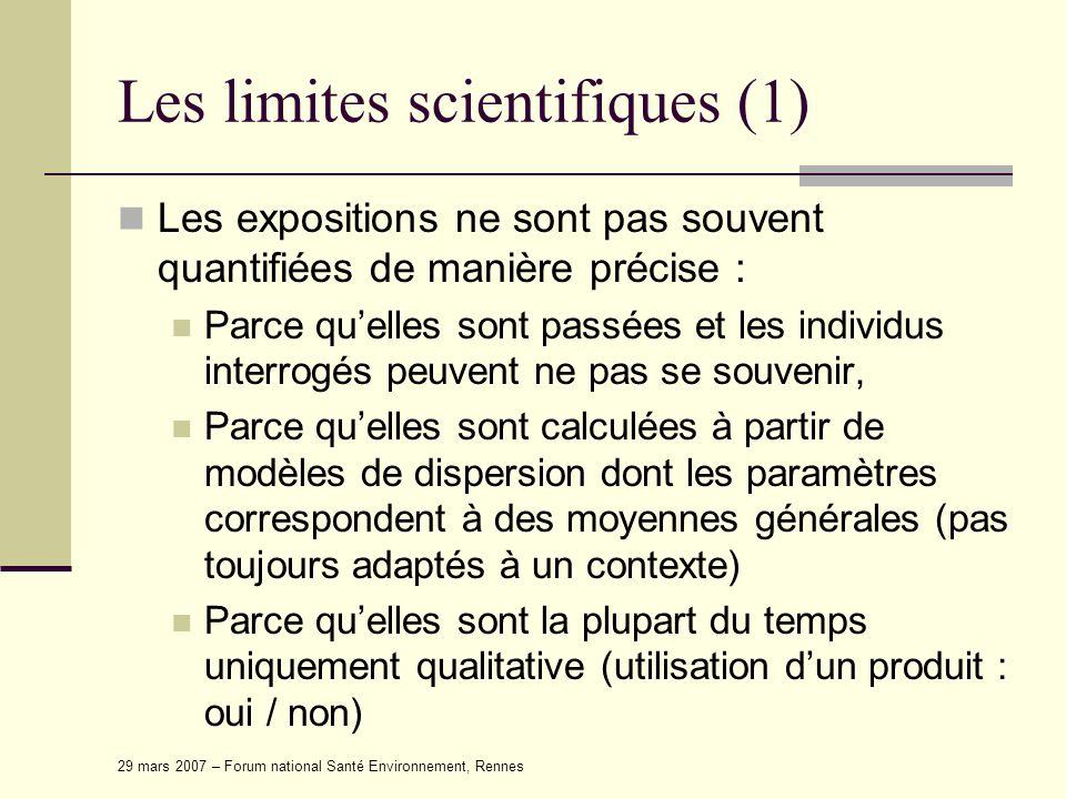 Les limites scientifiques (1)