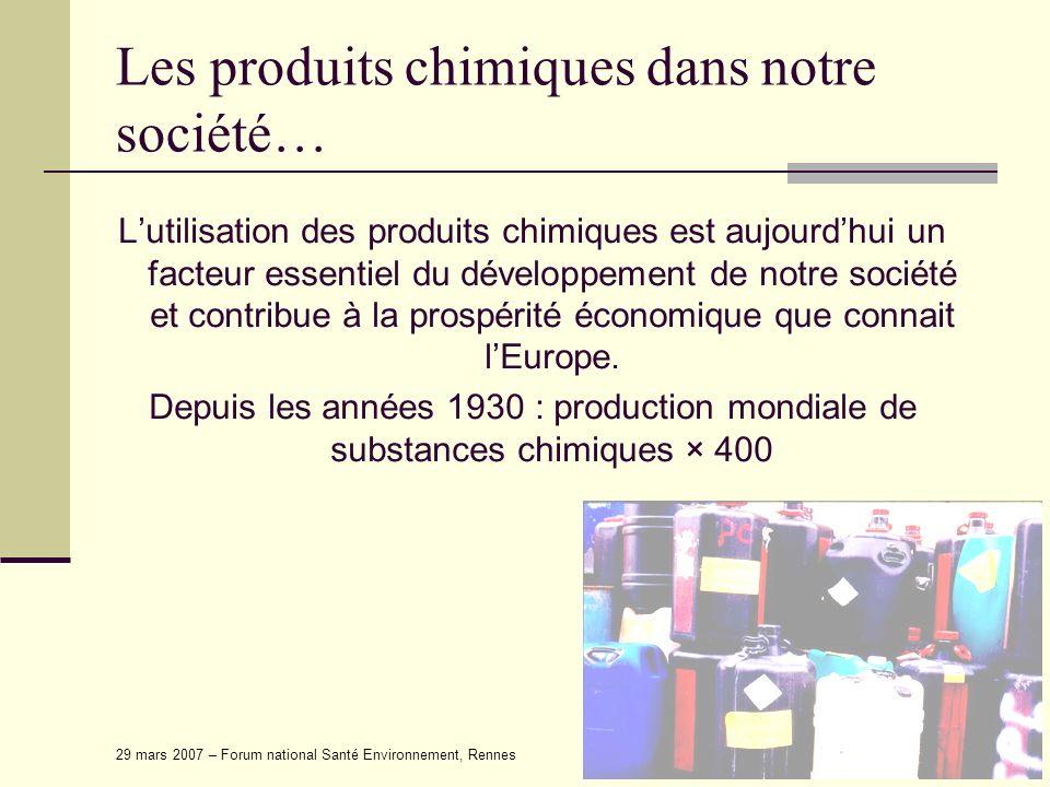 Les produits chimiques dans notre société…