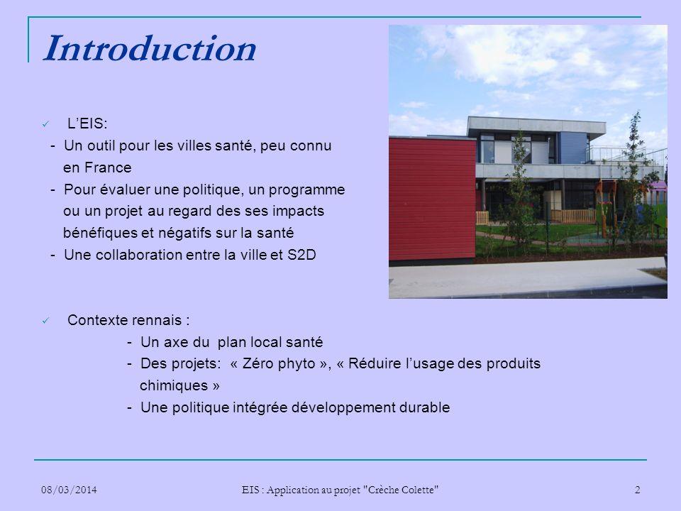 EIS : Application au projet Crèche Colette