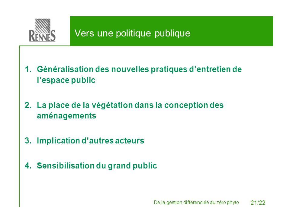 Vers une politique publique