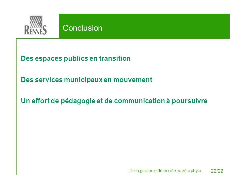 Conclusion Des espaces publics en transition