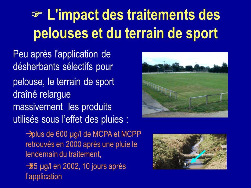 F L impact des traitements des pelouses et du terrain de sport
