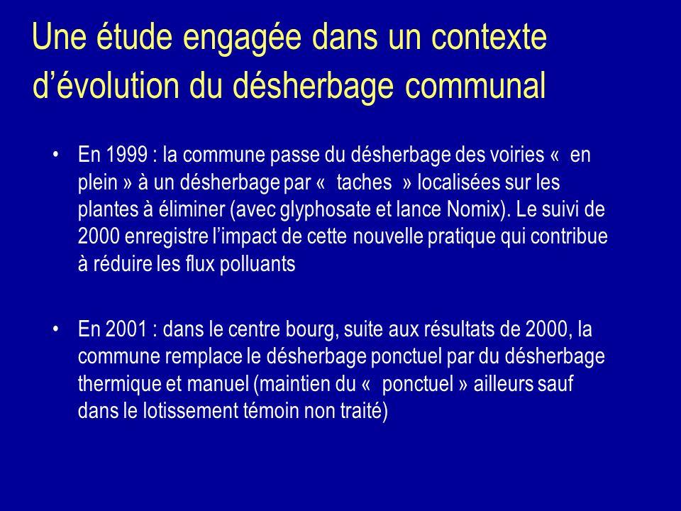 Une étude engagée dans un contexte d'évolution du désherbage communal