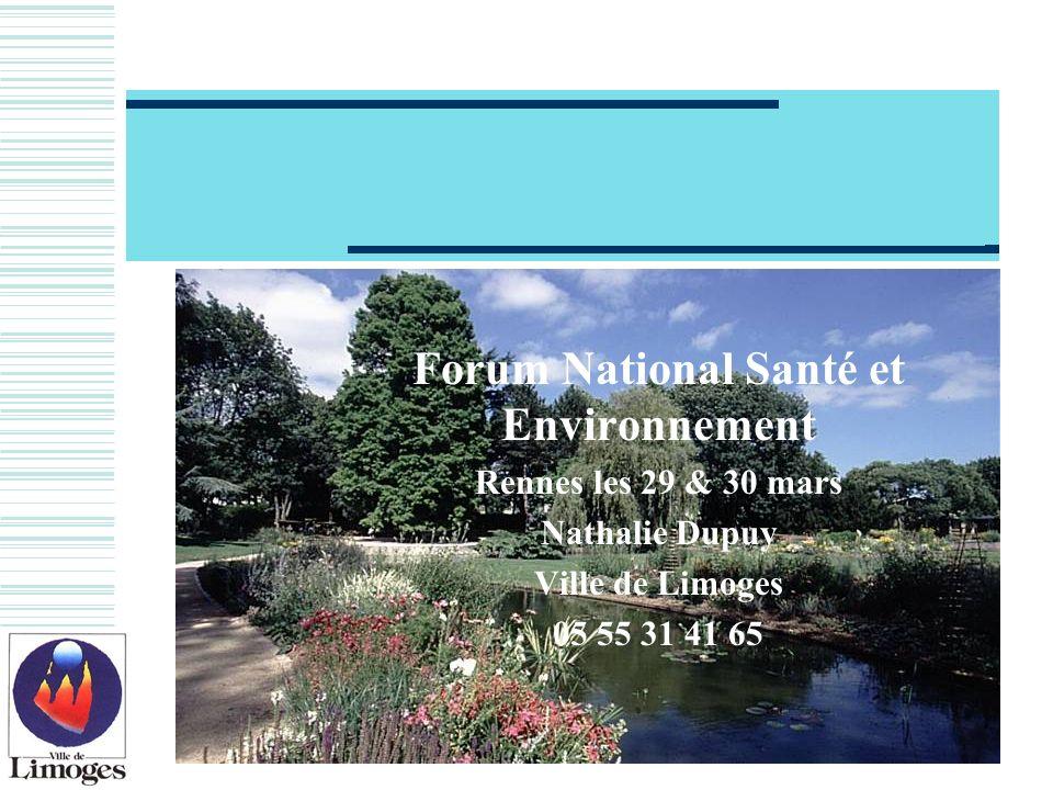 Forum National Santé et Environnement