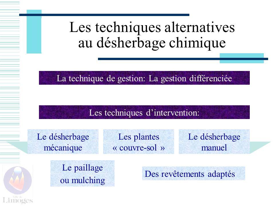 Les techniques alternatives au désherbage chimique