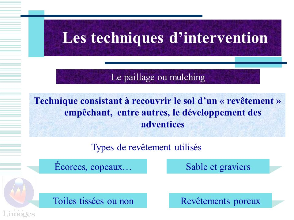 Les techniques d'intervention