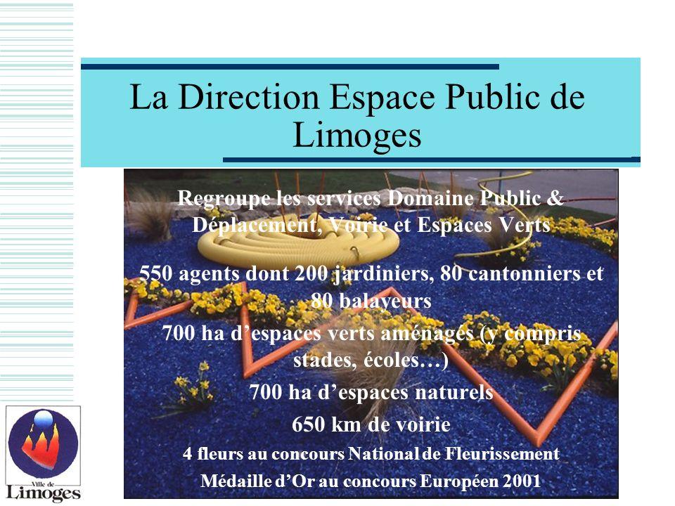 La Direction Espace Public de Limoges