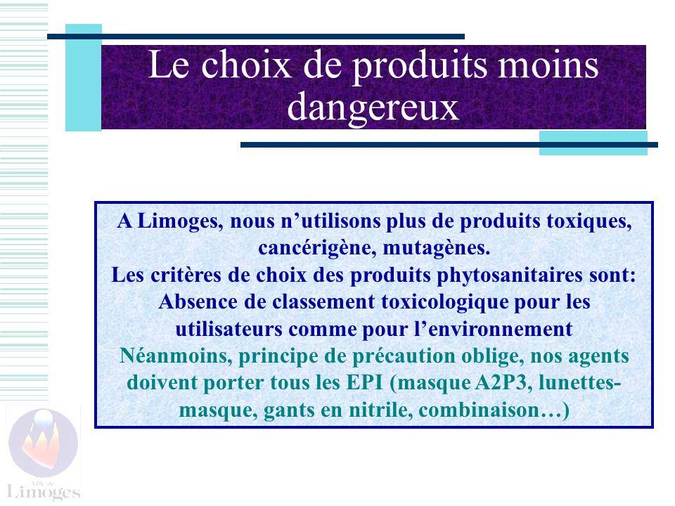 Le choix de produits moins dangereux
