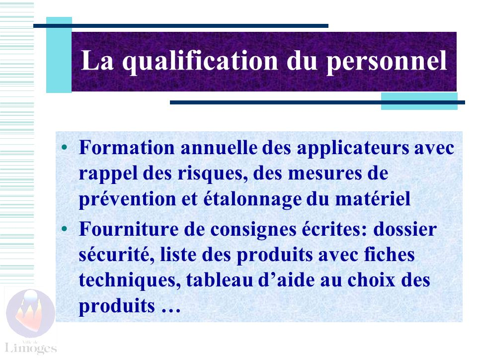 La qualification du personnel