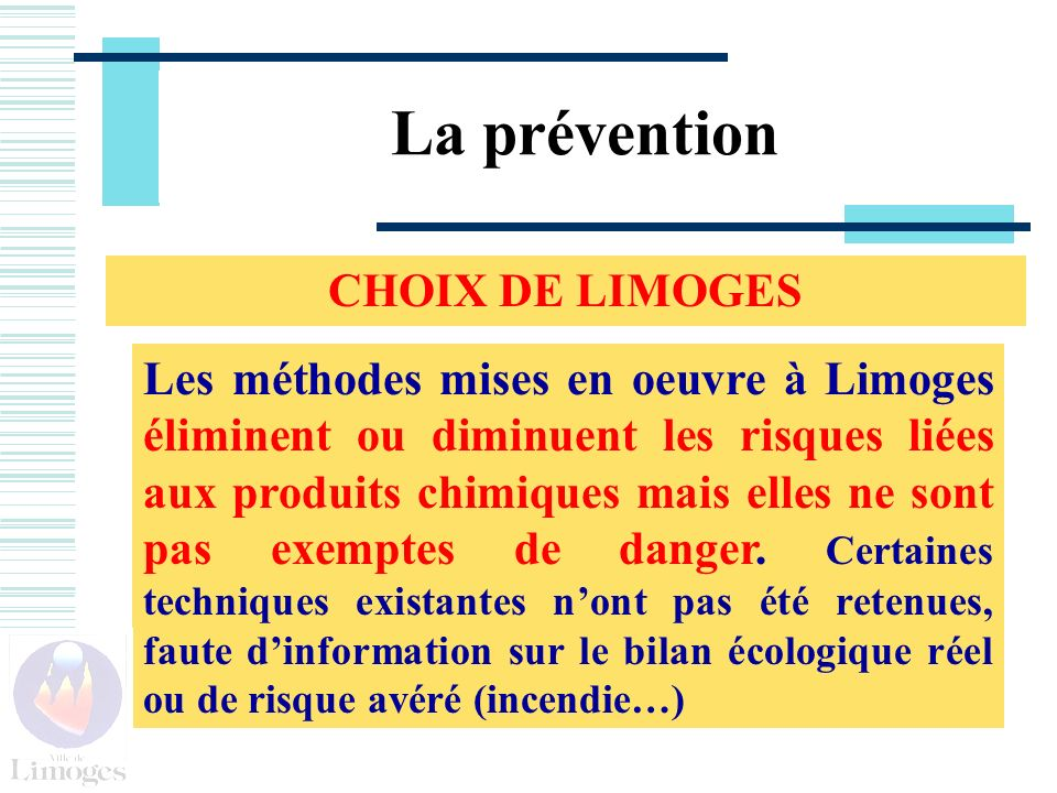 La prévention CHOIX DE LIMOGES