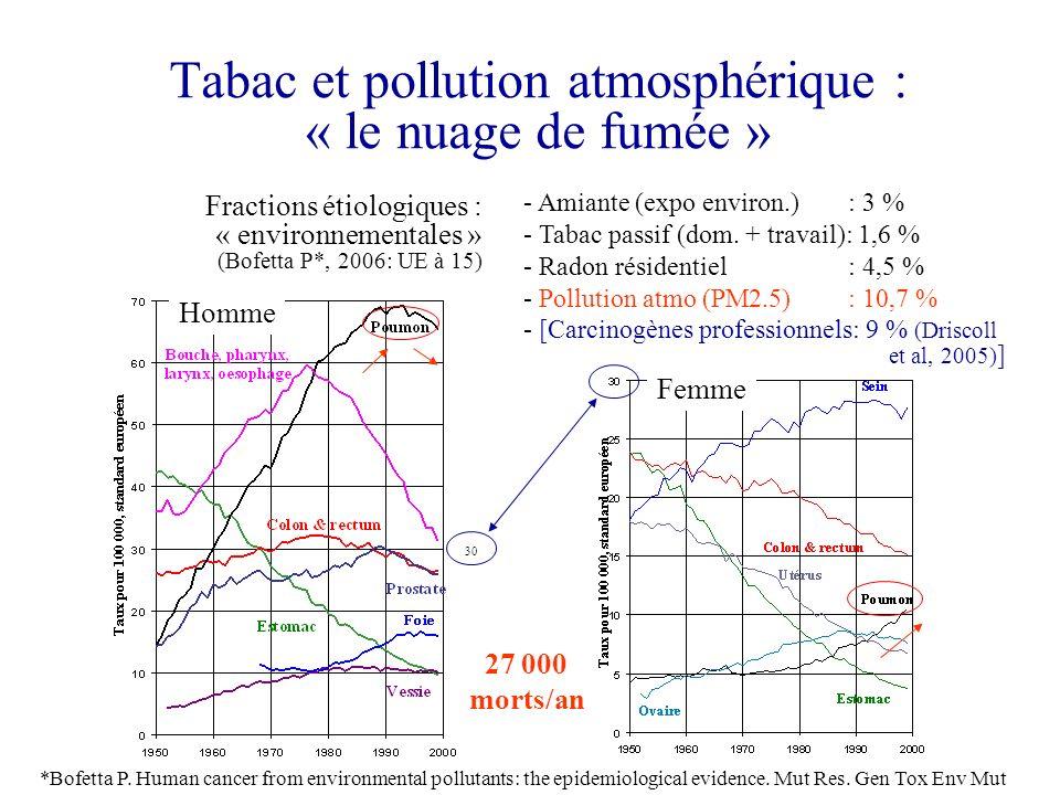 Tabac et pollution atmosphérique : « le nuage de fumée »