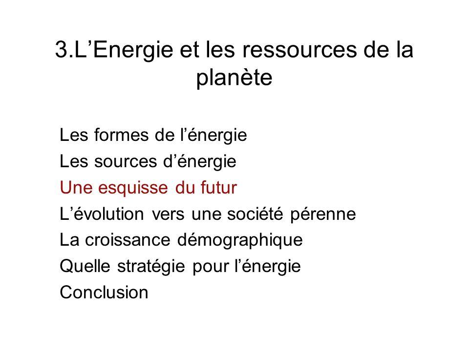 3.L'Energie et les ressources de la planète