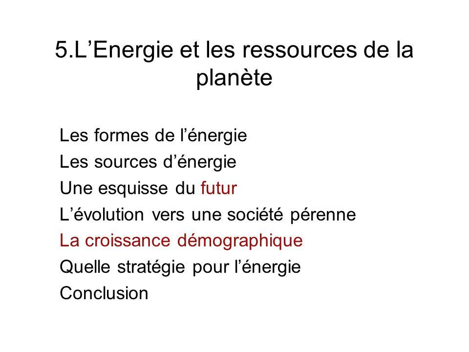 5.L'Energie et les ressources de la planète