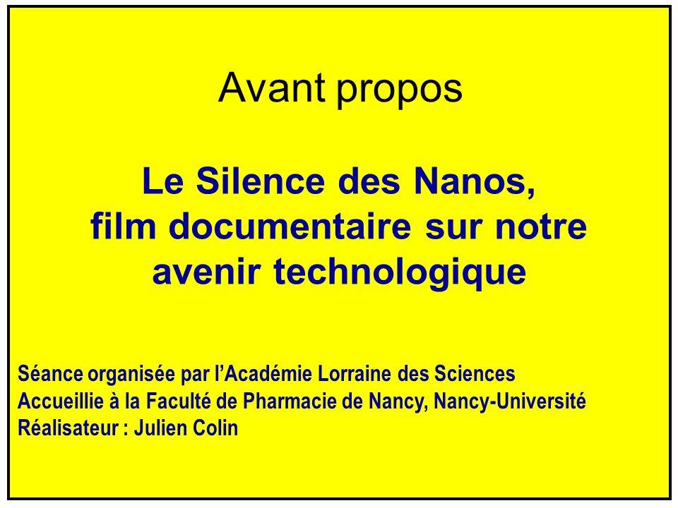 Le Silence des Nanos, film documentaire sur notre avenir technologique