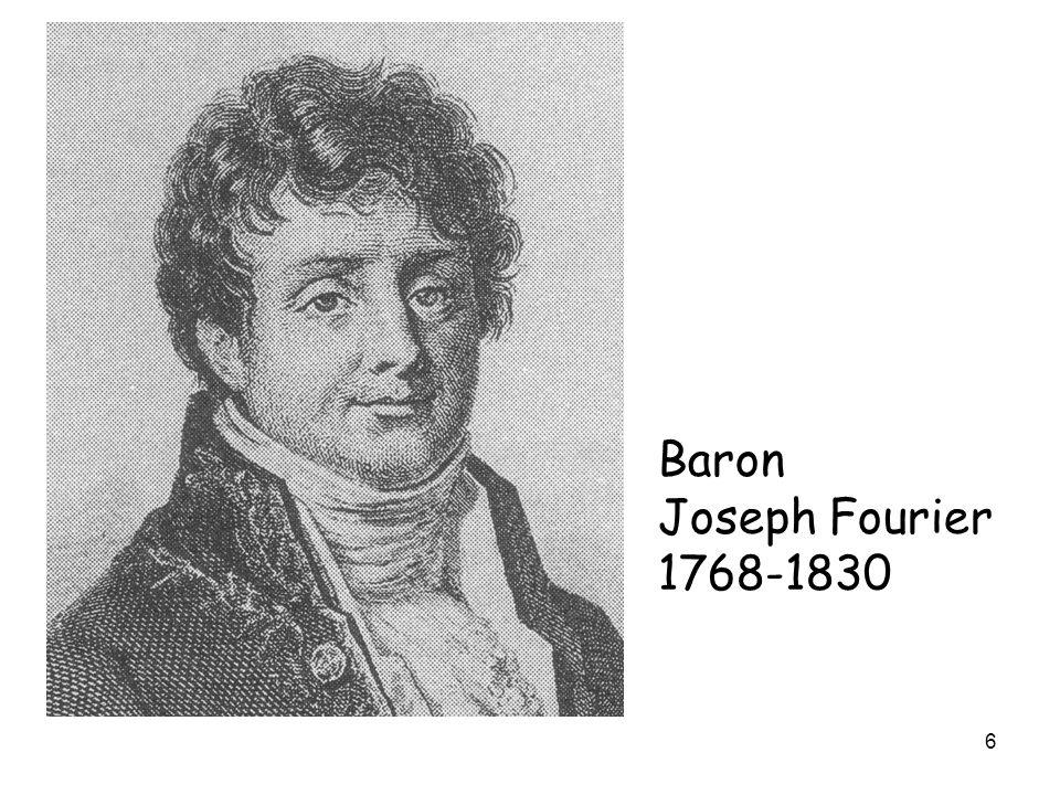 Baron Joseph Fourier 1768-1830