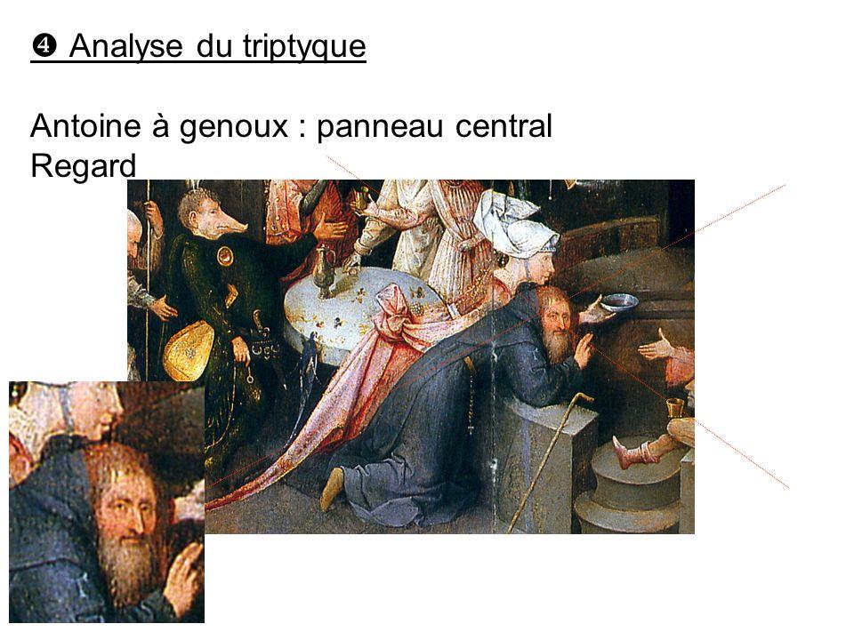  Analyse du triptyque Antoine à genoux : panneau central Regard