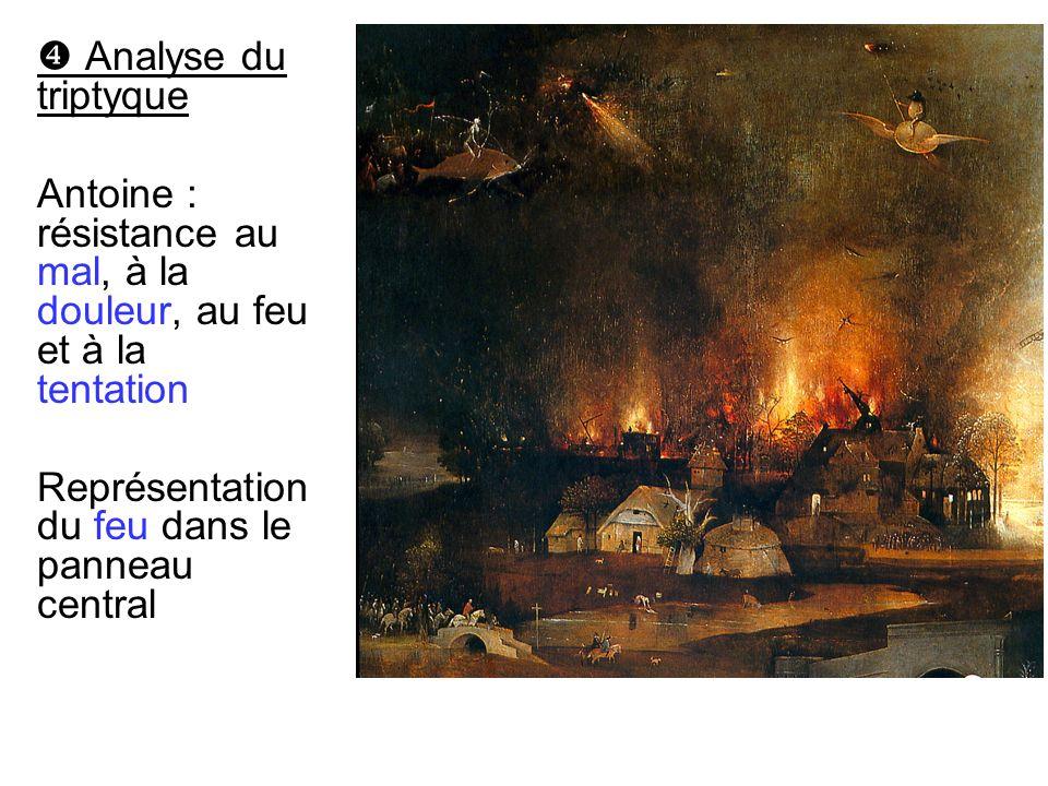  Analyse du triptyque Antoine : résistance au mal, à la douleur, au feu et à la tentation.