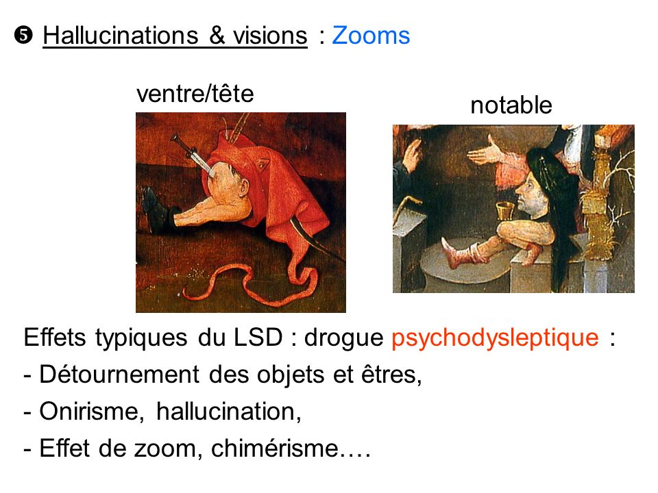  Hallucinations & visions : Zooms