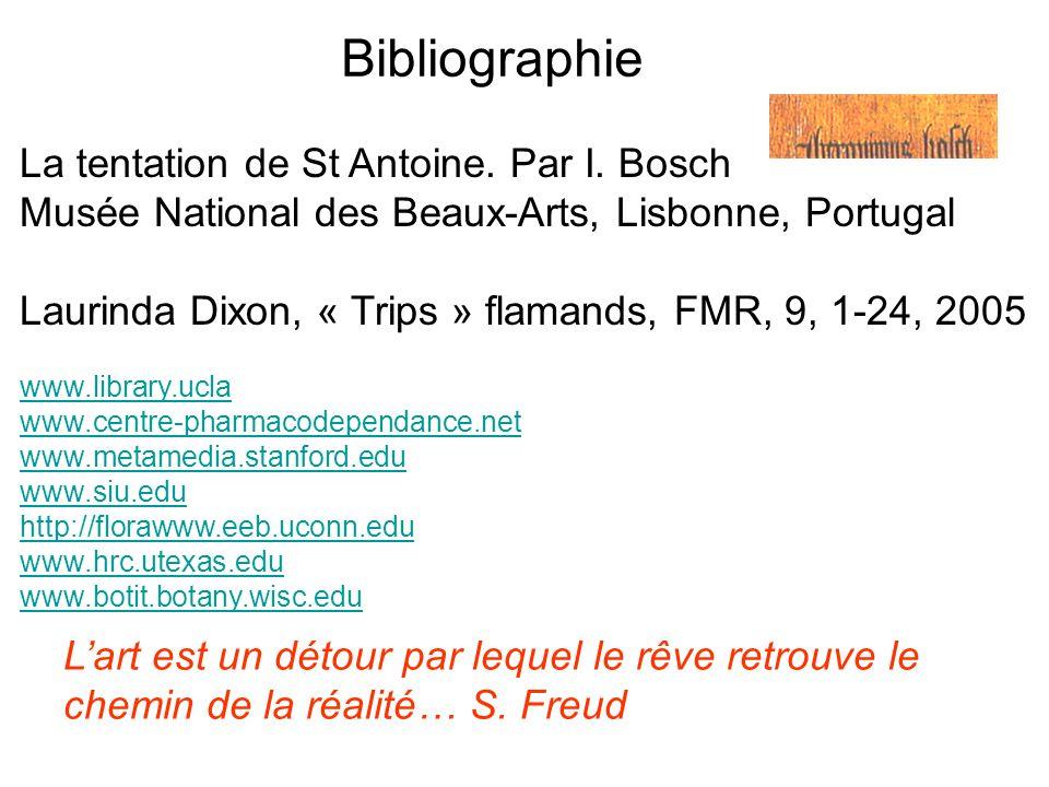 Bibliographie La tentation de St Antoine. Par I. Bosch