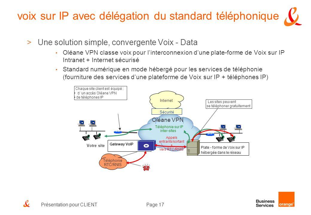 voix sur IP avec délégation du standard téléphonique